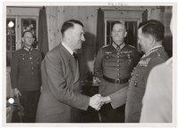 Hitler conferring with generals