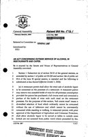 2004 HB-5161. An act concerning outside service of alcohol in restaurants and cafes