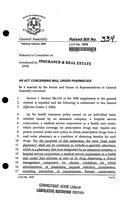 2006 SB-0334. An act concerning mail order pharmacies