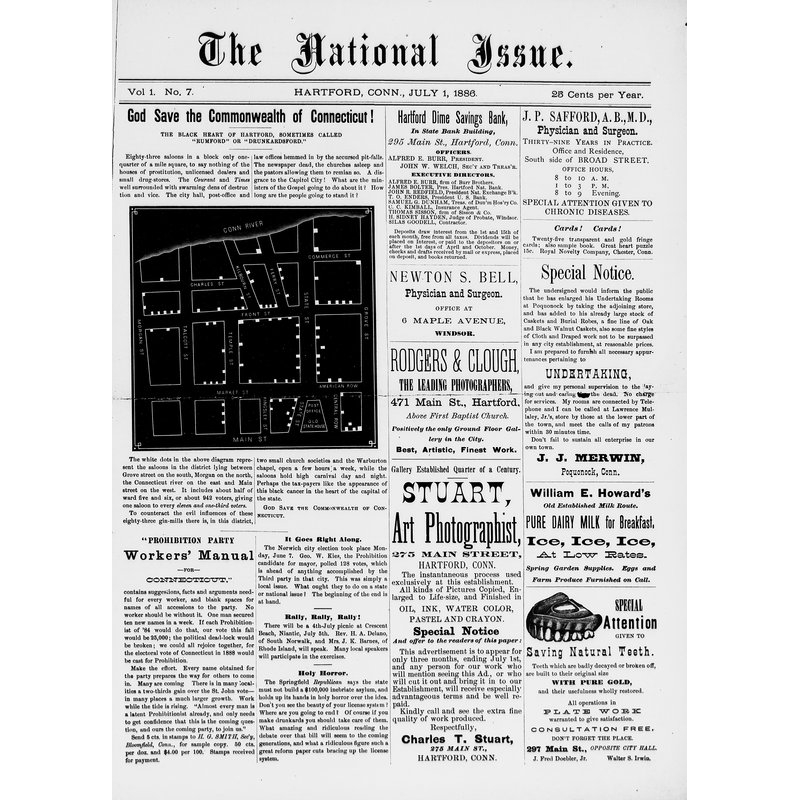 The National issue, 1886, National issue (Hartford, Conn.)