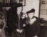 Alice Mortensen with her mother in law Karen P. Mortensen in mayors office, Hartford
