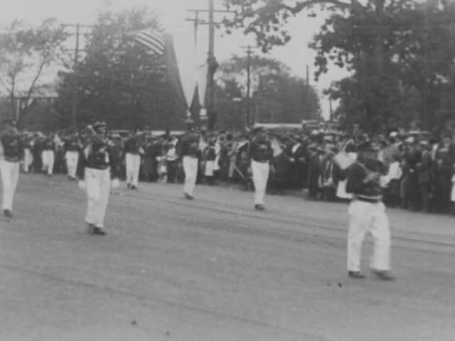 Firemen's parade; home movie, 1912-1920