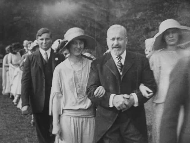 Wedding; home movie, 1915
