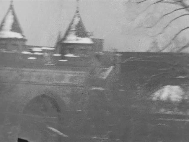 Hartford in winter; home movie, 1933