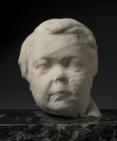 Physical item: Sculpture of Charles S. Stratton's head from a cemetery monument