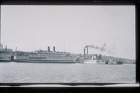 Steamboats in New London Harbor