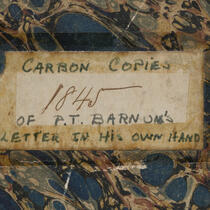 Manuscripts - P.T. Barnum Digital Collection